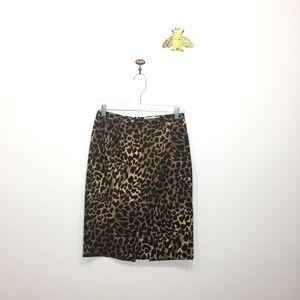 MICHAEL Michael Kors leopard pencil skirt 4P 0057